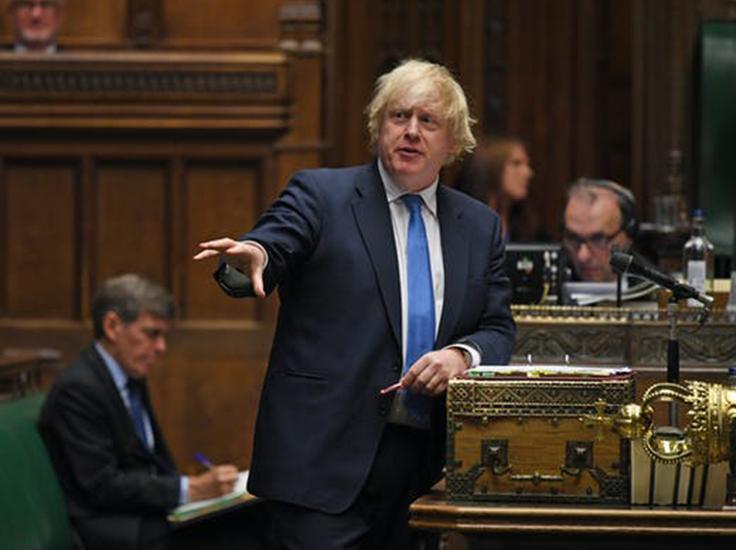 U-turn: UK prime minister Boris Johnson in the House of Commons. EPA-EFE/Jessica Taylor / UK Parliament