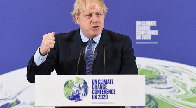 Boris Johnson opening the COP26 event