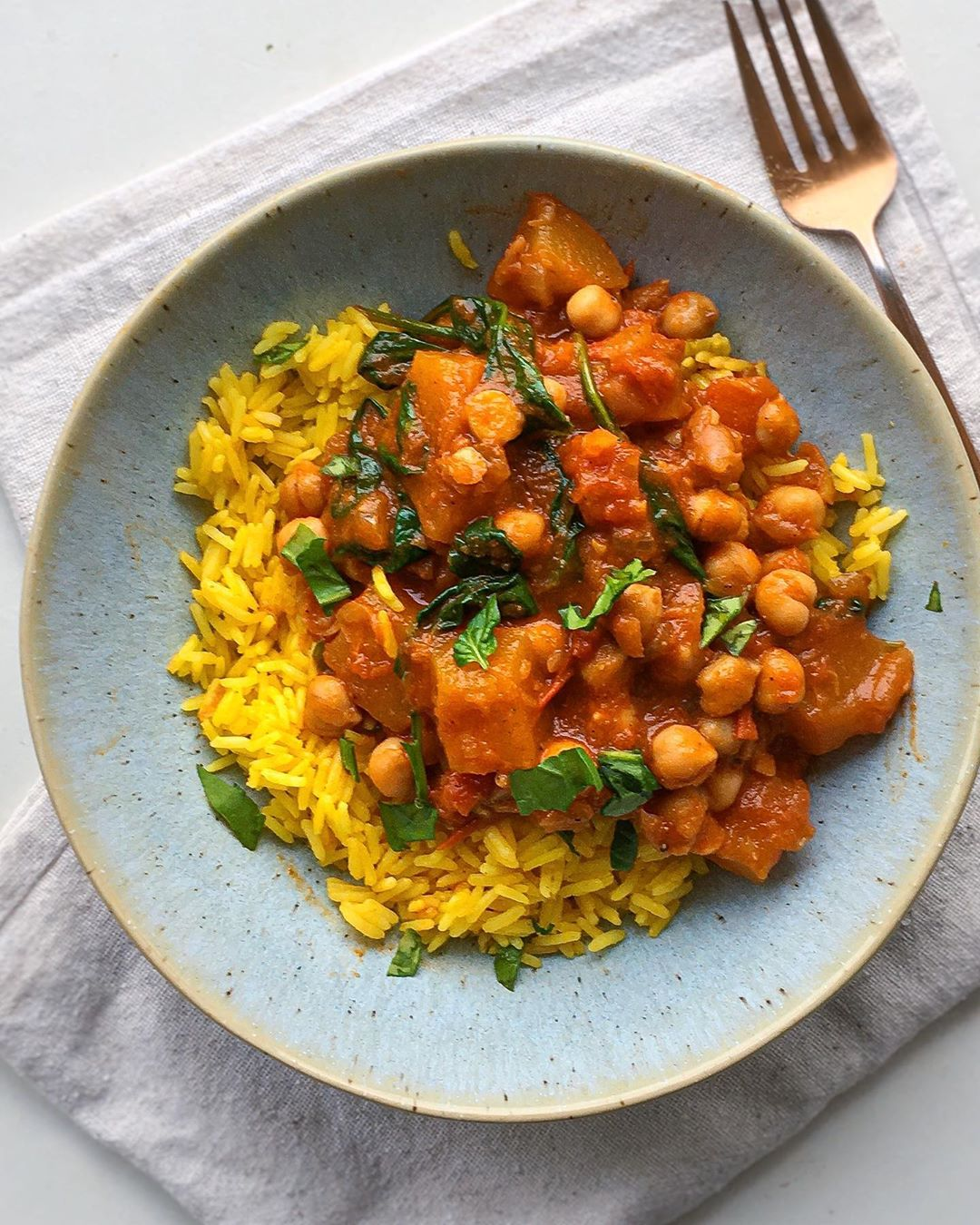 Chickpea, Pumpkin and Coconut Curry, @nourishingalex