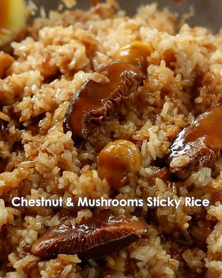 Chestnut and Mushroom Sticky Rice, @Woon.Heng