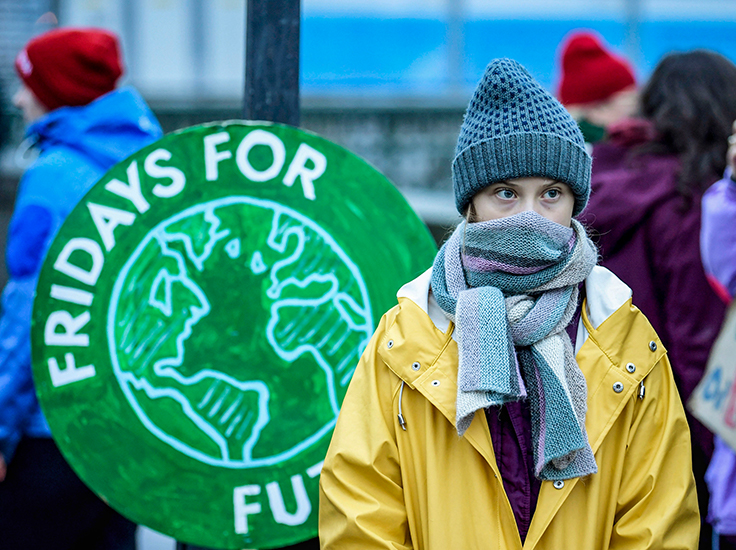 Children rallying at the Ottawa Climate Strike