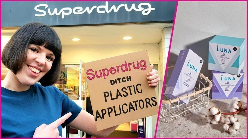 Ella Daish campaigns for Superdrug to stop their plastic tampon applicator