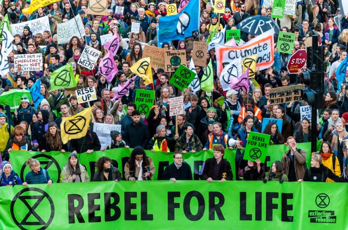 Extinction Rebellion crowd shot