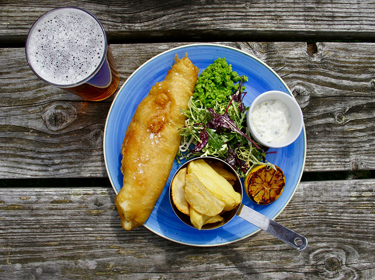 Fish and chips and an ale - Nick Fewings, Unsplash