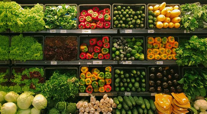 Fruit and veg in the supermarket