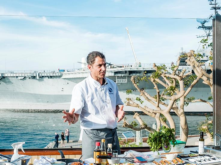Gerard Viverito, BlueNalu product demonstration with yellowtail amberjack