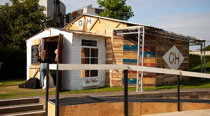 The Greenhouse Theatre made from reclaimed materials