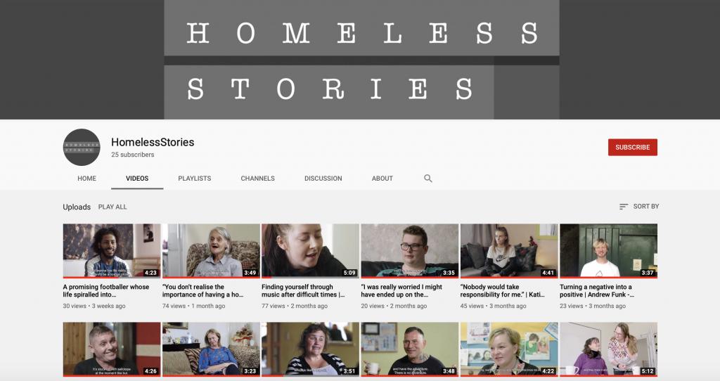 Homeless Stories YouTube