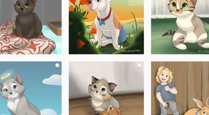 The only thing that could make rescue pets any cuter is if they looked like Disney characters...and that's where artist Isa Bredt comes in.