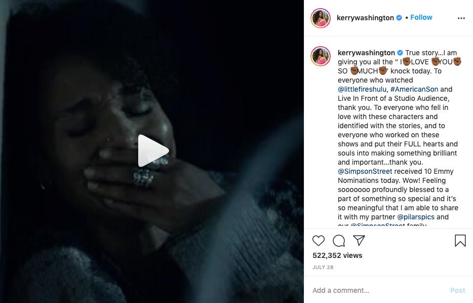 Kerry Washington, Instagram