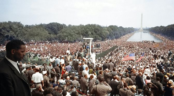 """""""[View of the huge crowd from the Lincoln Memorial to the Washington Monument, during the March on Washington]"""" Original black and white negative by Warren K. Leffler. Taken August 28th, 1963, Washington D.C, United States (@libraryofcongress). Colorized by Jordan J. Lloyd. Library of Congress Prints and Photographs Division Washington, D.C. 20540 USA https://www.loc.gov/resource/ds.04417/"""