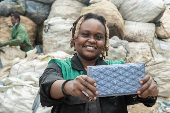 These Upcycled Bricks Are Solving Nairobi's Plastic Waste and Housing Problems