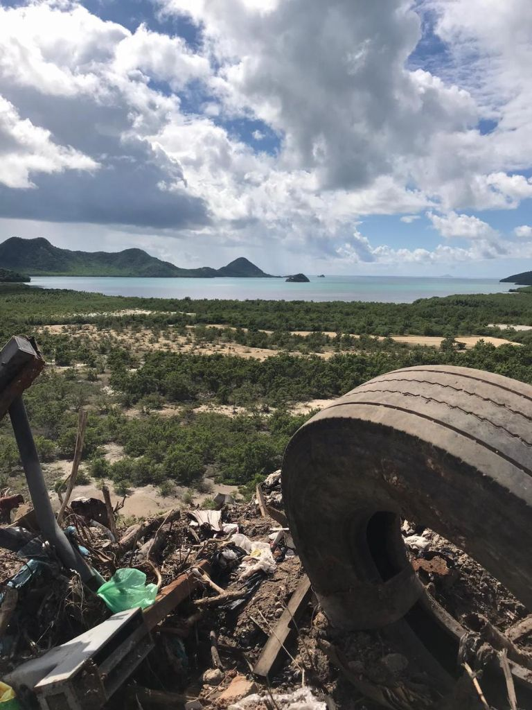 Visiting the National Solid Waste Management Authority on Antigua. Photo by Sally Earthrowl.