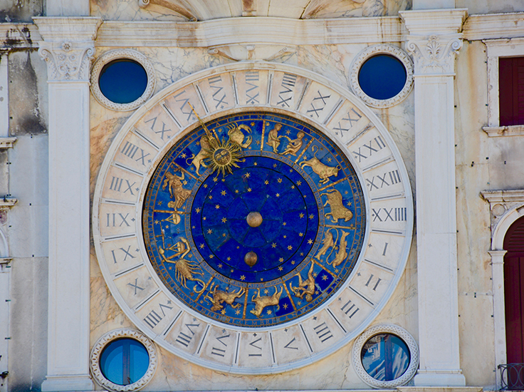 Star sign clock