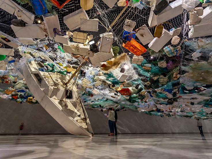 Plastic exhibition, MAAS, Lisbon, Portugal. Photo by Martijn Baudoin.