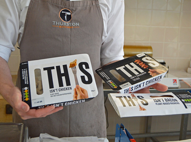 Alastair Angus at Thurston Butchers in Suffolk offers vegan alternatives