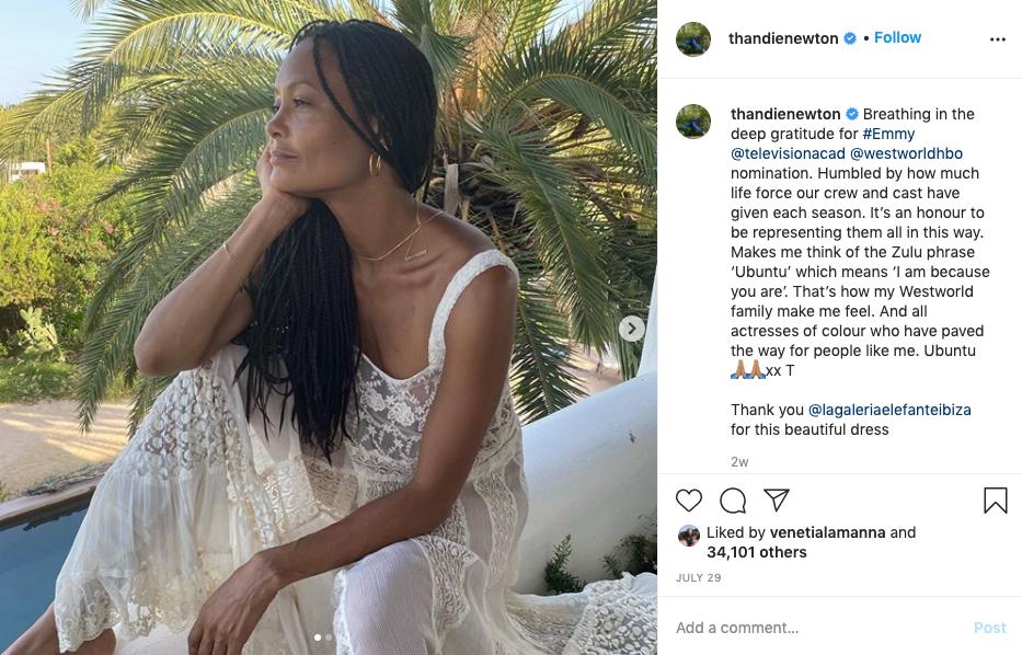 Thandie Newton, Instagram