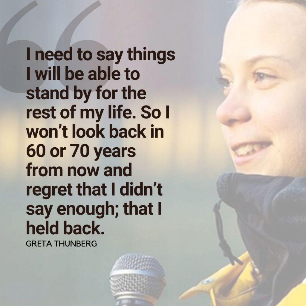 Greta Thunberg quote card
