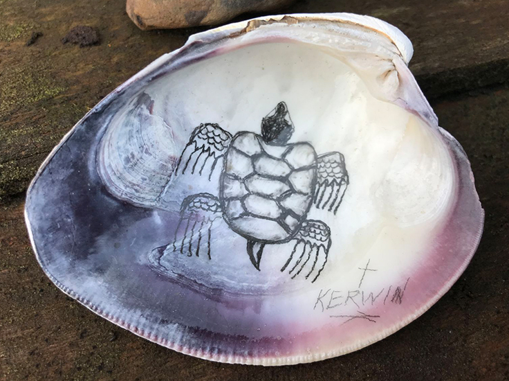 'Turtles have a lot of significance for a lot of native people, because we believe North America is on the back of a turtle shell.' Mayflower 400