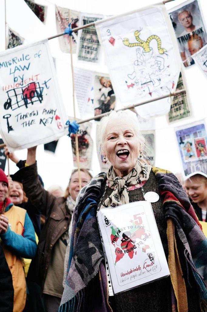 Vivienne Westwood protesting fracking