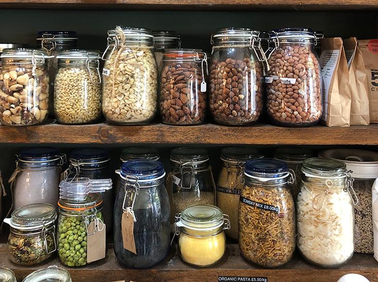 Glass jars, Beetroot + Beans. Image: Sarah Rodrigues