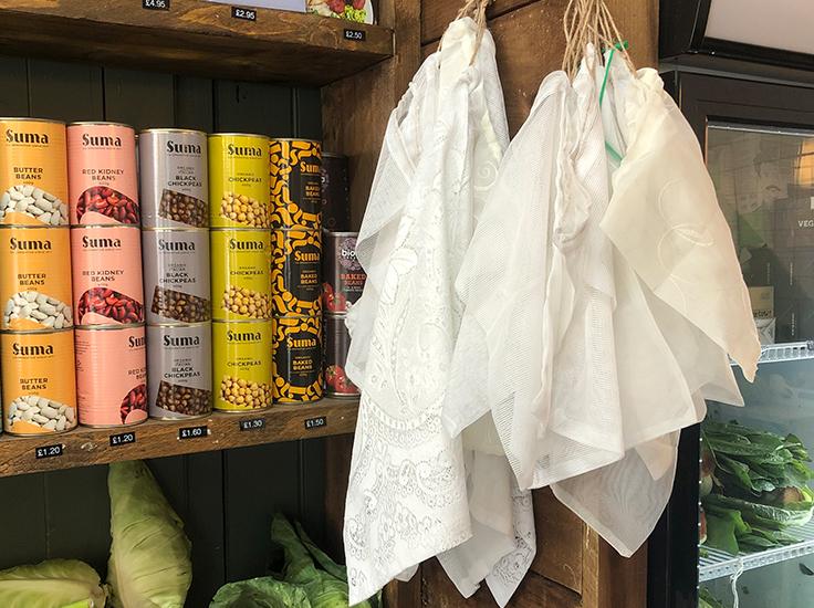 Net curtain bags, Beetroot + Beans. Image: Sarah Rodrigues