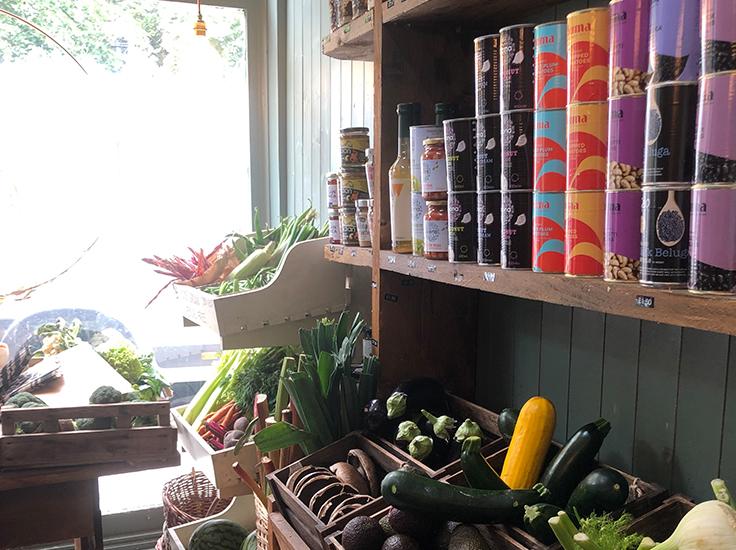 Product display, Beetroot + Beans. Image: Sarah Rodrigues