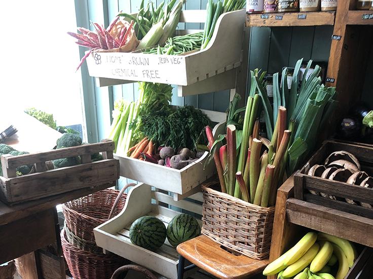 Fruit and veg display, Beetroot + Beans, Sarah Rodrigues
