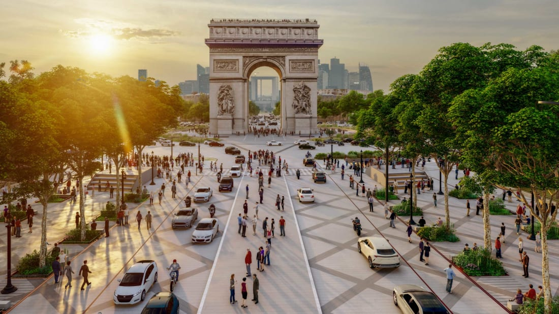 Paris to Give the Champs Elysées a Grand Green Makeover