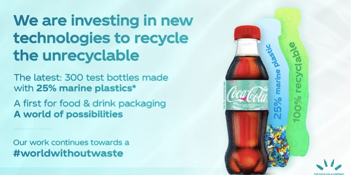 Coca-Cola Recycled Plastic Bottle