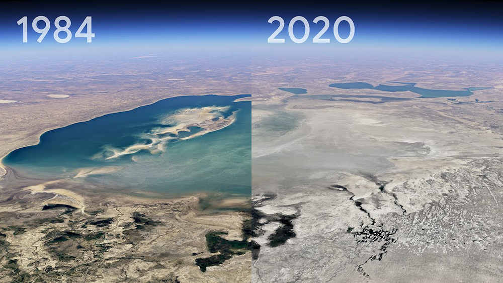 Google Turned 24 Million Images Into a 37-Year Climate Change Time-Lapse