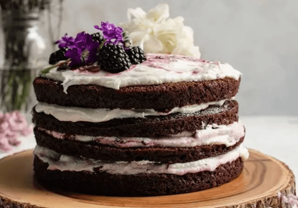 Lavender Blackberry Cake