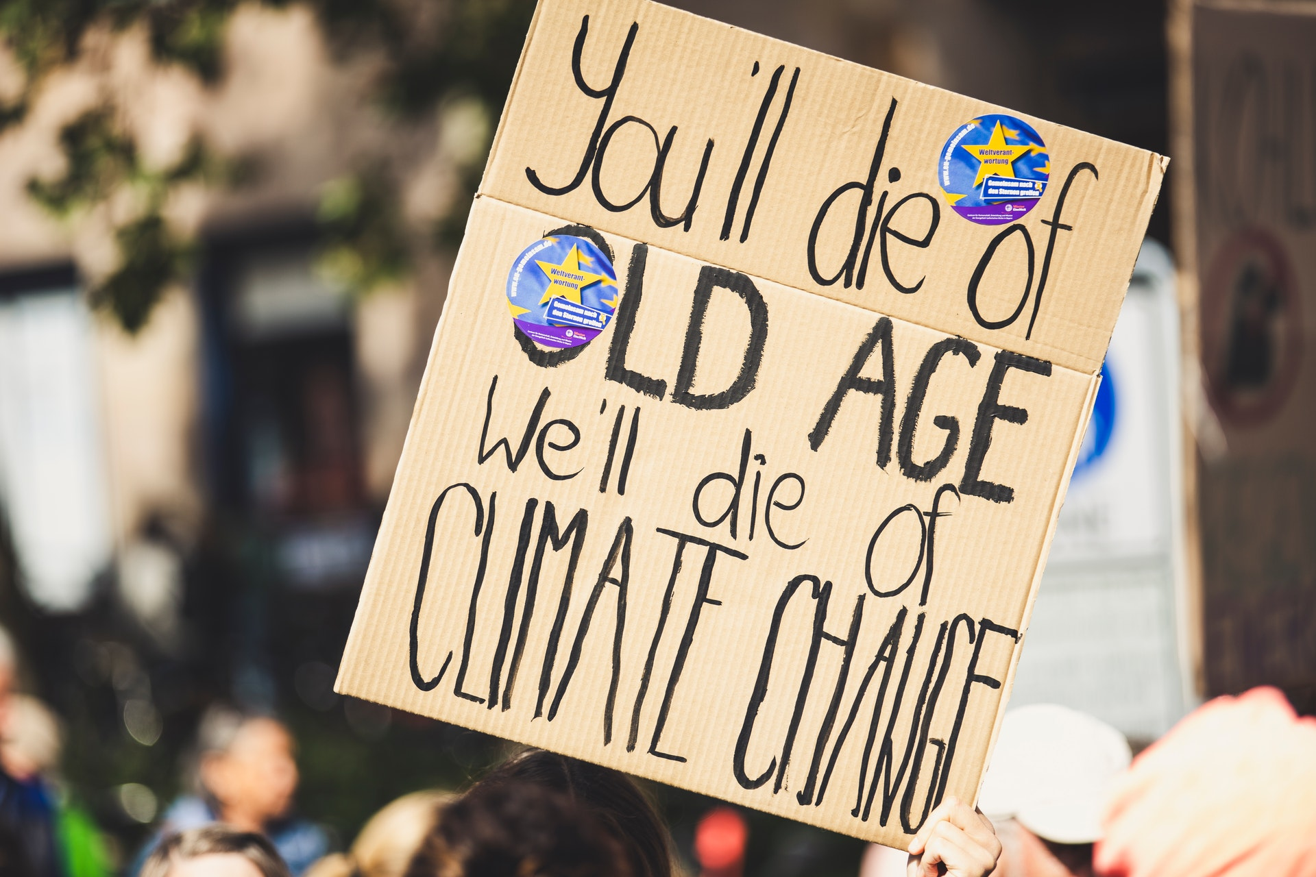 climate protest poster