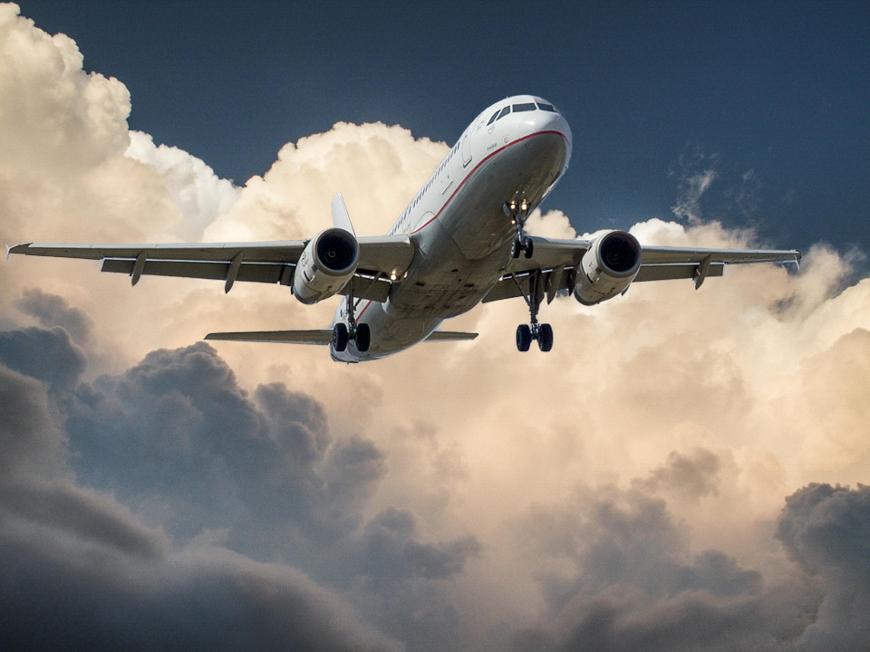 aeroplane in clouds